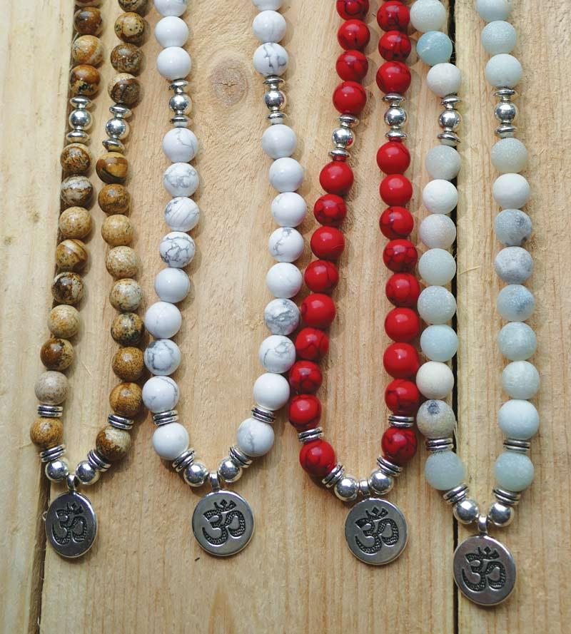 Mala Yoga Schmuck Perlen Kette Perlen Armband Edelstein Schmuck