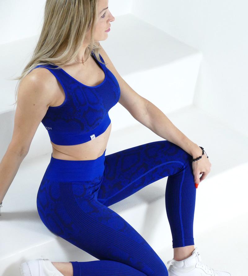 Sportbekleidung Yoga Outfit Fitness Outfit Sportswear Zweiteiler Leggings Oberteil Damen